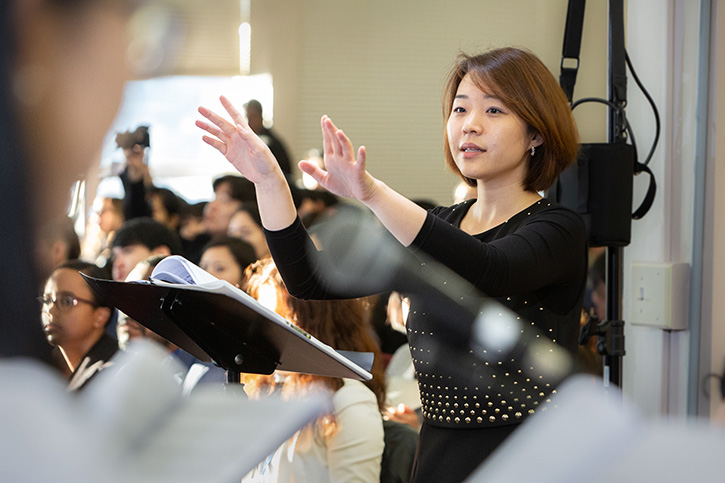 Jubilee College of Music Conducting Class Improves Choral Ensemble Leadership